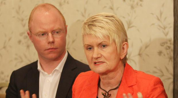 Stephen Donnelly (pictured with MEP Marian Harkin) has quit the Social Democrats