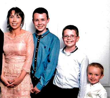 Alan Hawe (left) who murdered (from left) his wife Clodagh and their children Liam, Niall, and Ryan