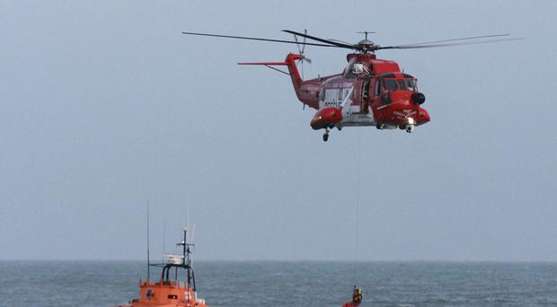 The Irish Coast Guard pictured during a training exercise off Howth.