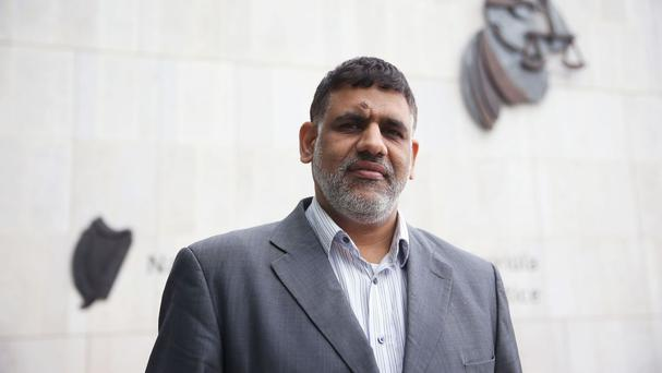 Jaafar Al-Hasabi outside the Criminal Courts of Justice in Dublin where he lost his case against the Attorney General of Bahrain