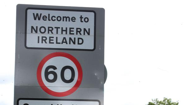 The border between the Republic and Northern Ireland in the village of Bridgend, Co Donegal