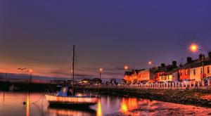 Skerries pictured at night