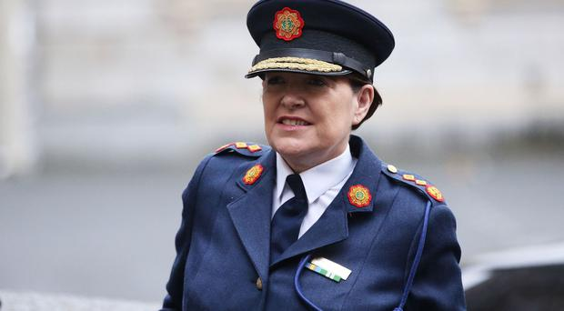Garda Commissioner Noirin O'Sullivan arrives at Leinster House in Dublin to appear before the Oireachtas Joint Committee on Justice and Equality