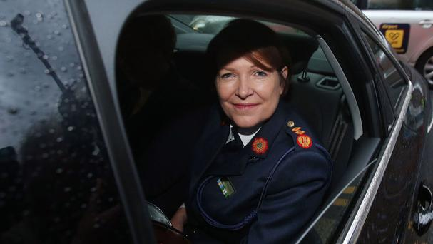 Garda Commissioner Noirin O'Sullivan arrives at Leinster House in Dublin