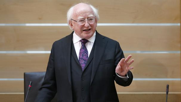 President Michael D Higgins said those struggling with poverty can be treated as merely numbers or cases