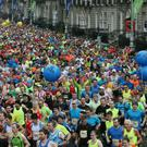 Runners taking part in Dublin marathon in 2015