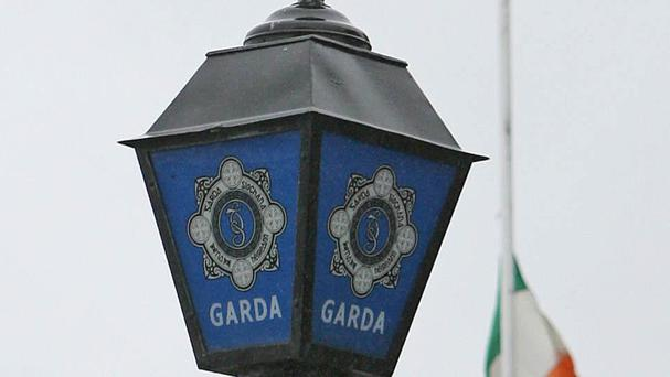 Gardai were at the scene
