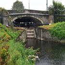 The Royal Canal, pictured, and the Grand Canal were shut indefinitely