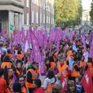 On the first day of the strike over equal pay for newly qualified staff, in the Thursday before the Halloween mid-term, 507 schools out of 735 closed