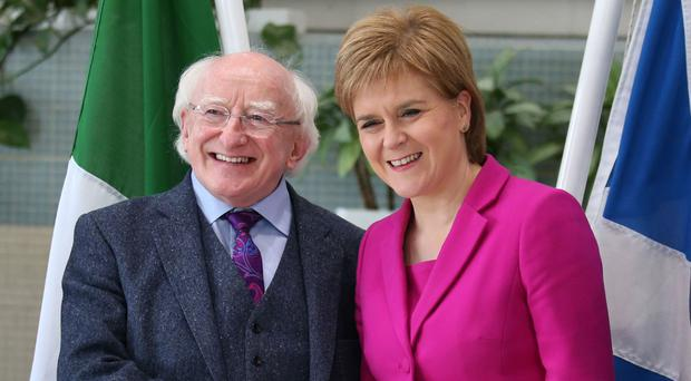 Michael D Higgins and Nicola Sturgeon will meet once more when the First Minister travels to Dublin