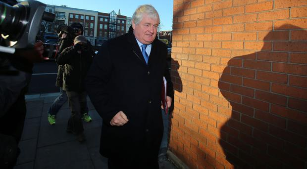 Denis O'Brien arrives at the Four Courts in Dublin