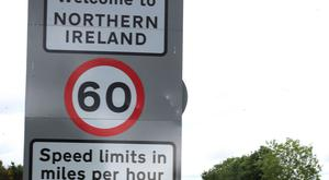 The border between the Republic of Ireland and Northern Ireland in the village of Bridgend, Co Donegal