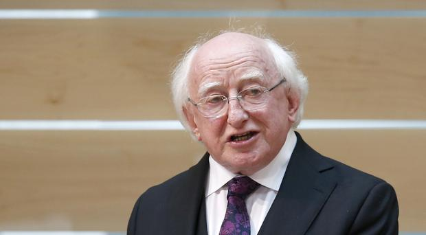 Michael D Higgins said the death of John Montague represents