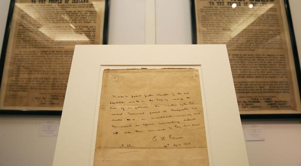 Patrick Pearse's final order of surrender at Adam's auctioneers in Dublin