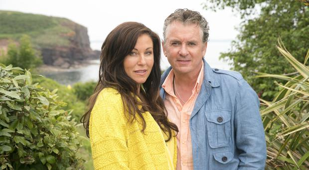 Kat and Alfie Moon, played by Jessie Wallace and Shane Richie, on the set of EastEnders spin-off Redwater in Co Waterford (BBC/PA)
