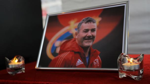 A book of condolence for former Munster head coach Anthony Foley was opened at Thomond Park
