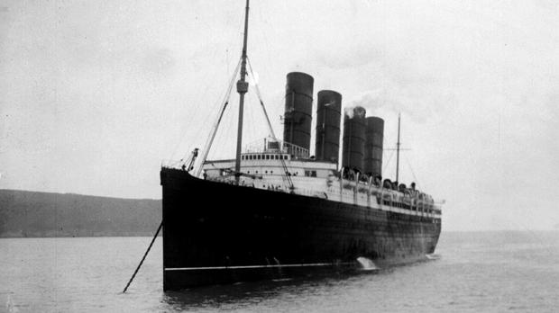 The Lusitania sank off the coast of Ireland