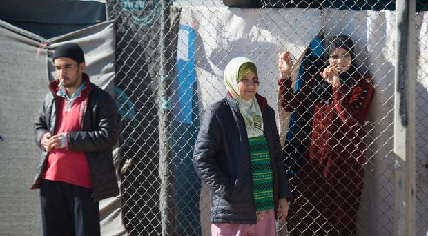 Syrian refugees at a camp in Turkey, after fleeing the civil war