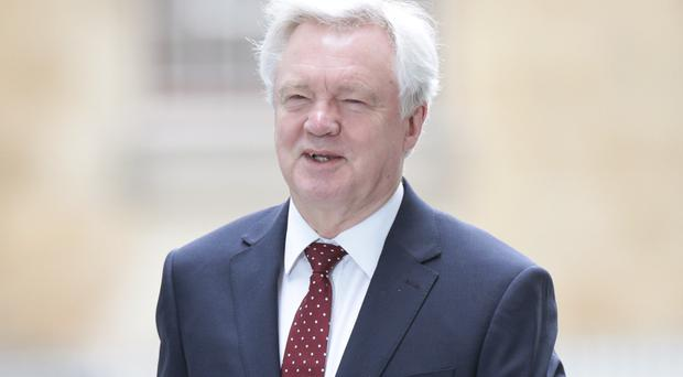 Britain's Brexit Secretary David Davis said 'we are not going to do anything which jeopardises the peace process'