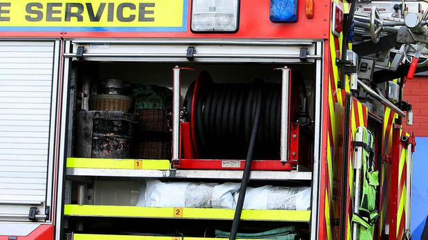 Fire fighters were called by doctors at Mater University Hospital