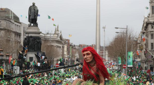 The St Patrick's Day parade in Dublin