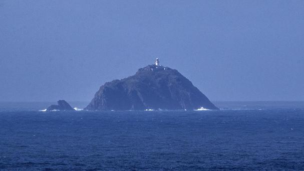 The Blacksod Lighthouse, Co Mayo, where the search is taking place