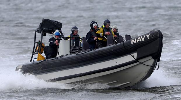 Enda Kenny returns after visiting the LE Eithne, as the search continues for the missing rescue helicopter