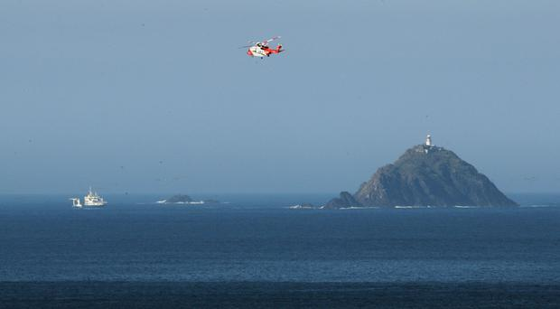An air and sea search has been launched for the missing helicopter