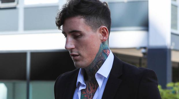 Jeremy McConnell arriving at Liverpool Magistrates' Court