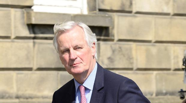 EU chief negotiator on Brexit Michel Barnier arrives at Government Buildings in Dublin