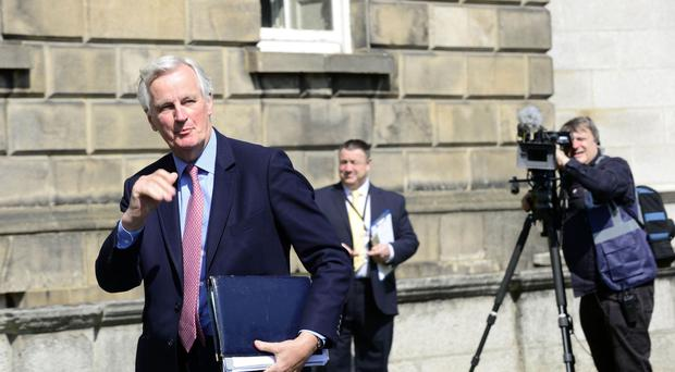 Michel Barnier at Government Buildings