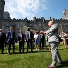 The Prince of Wales tries his hand at hurling