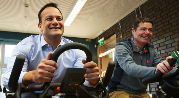 Leo Varadkar, left, has been labelled as the best person to lead Ireland by Paschal Donohoe