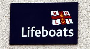 Local RNLI lifeboat crews were tasked to the scene after the vessel went down about 100m off Skerries harbour
