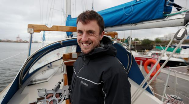 Greg McGuckin onboard his boat The Mary Luck