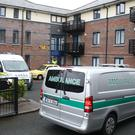 Emergency services at a complex in Poddle Park, Kimmage, Dublin