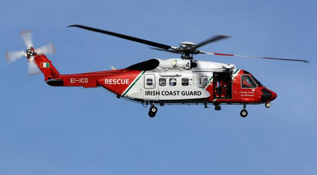 An Irish Coast Guard helicopter performed the rescue