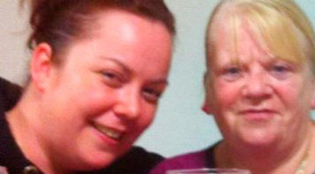 Victims Mairead Mundy with her mother Margaret McGonagle
