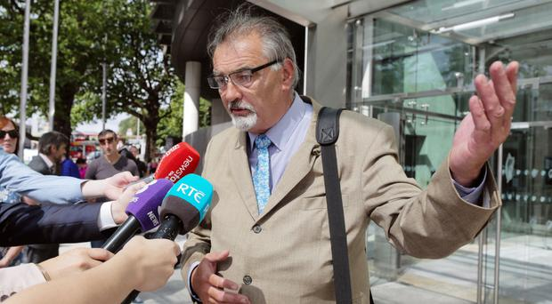 Ian Bailey leaving court in Dublin yesterday