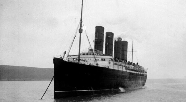 The RMS Lusitania sank off the coast of Ireland