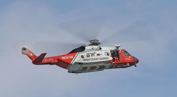 The coastguard is taking part in the search for the diver