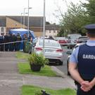 The scene of the shooting in Ballymun in Dublin yesterday