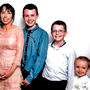 Clodagh Hawe with her sons Liam (13), Niall (11) and Ryan (6)