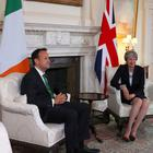 Prime Minister Theresa May and Taoiseach Leo Varadkar are discussing Brexit