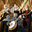 Eamonn Campbell (left) with fellow Dubliners John Sheahan, Patsy Watchorn and Barney McKenna at Christ Church Cathedral in 2012