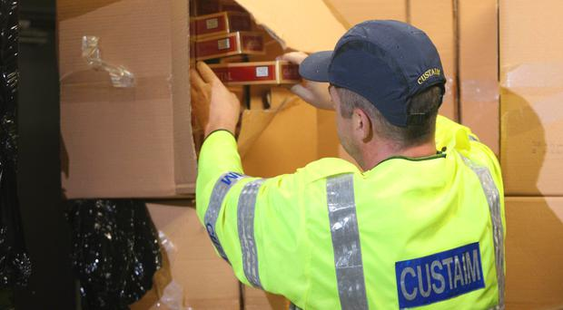 Customs officers said the cigarettes had a retail value of about 4.5 million euro