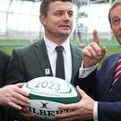 Brian O'Driscoll launched Ireland's bid to host the 2023 Rugby World Cup.