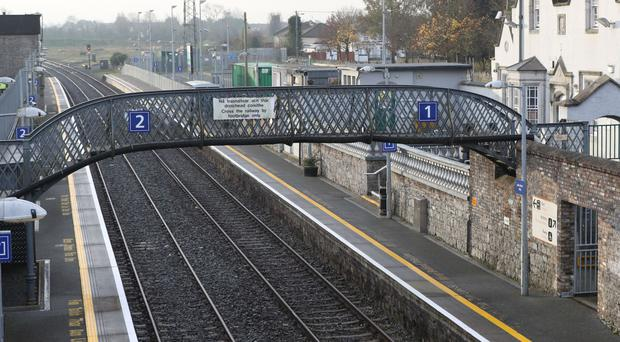 A commuter railway station in Athy, County Kildare