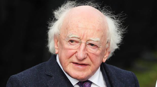President Michael D Higgins said his thoughts were with the families affected