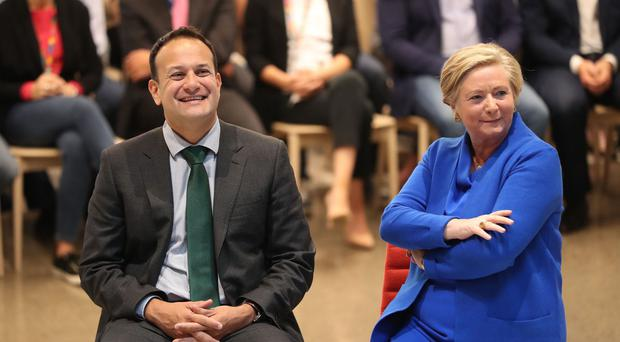 Frances Fitzgerald pictured with Taoiseach Leo Varadkar